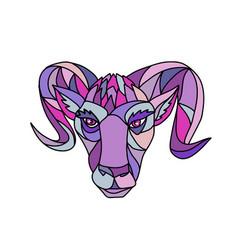 Bighorn sheep ram mosaic color vector