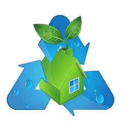 bio house and alternative energy sources vector image