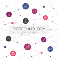 Biotechnology trendy web template with simple vector