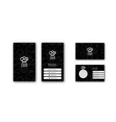 Black business card concept design for restaurant vector