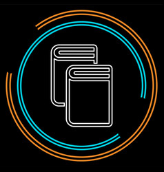 books library - literature vector image