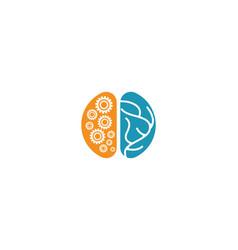 brain logo template vector image