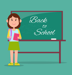 bright back to school poster vector image