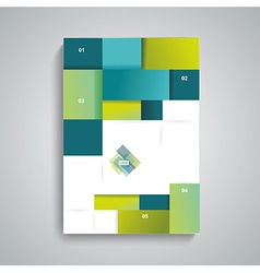 brochure template design with cubes and squares vector image