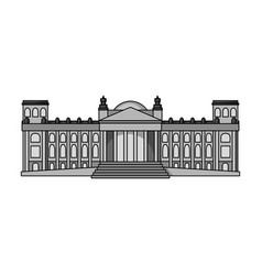 Building single icon in monochrome stylebuilding vector