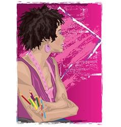 Cartoon woman vector