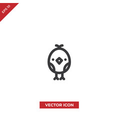 chick icon vector image