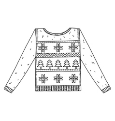 Christmas graphic sweater isolated on white vector