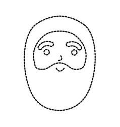 Christmas happy santa claus character beard vector