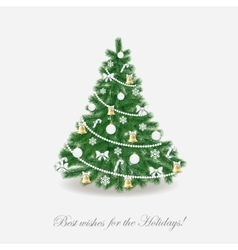 Christmas tree Traditional Realistic vector
