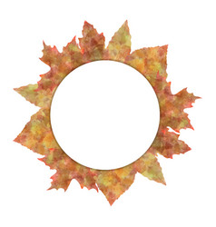 circle nature banners set with autumn leaves vector image