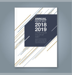 cover annual report 895 vector image