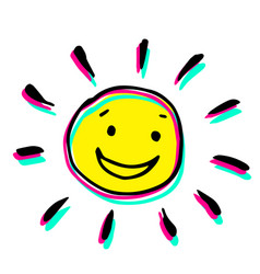 Creative colorful a sun that smiles vector