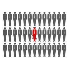 devil crowd vector image