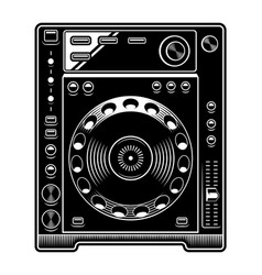 Dj cd player on white background vector