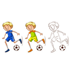 drafting character for soccer player vector image