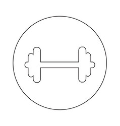 dumbbell icon design vector image