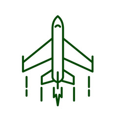 Fighter plane icon flat outline of vector