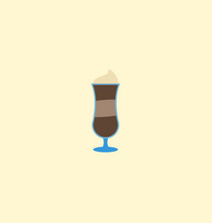 flat icon latte element of vector image