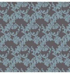 Floral damask pattern background vector