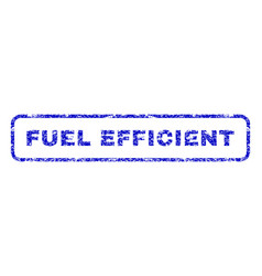 fuel efficient rubber stamp vector image