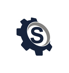 Gear logo letter s vector