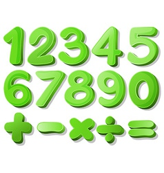 Green numbers vector