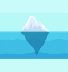 iceberg floating in ocean arctic water sea vector image