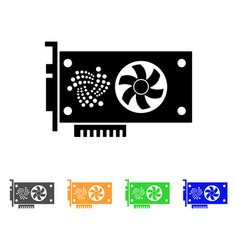 Iota video gpu card icon vector