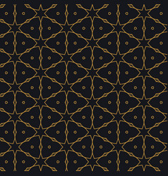 Islamic pattern design in black background vector