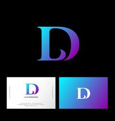 l d letters monogram web ui icon identity vector image