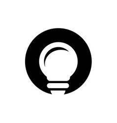 light bulb and circle shape logo vector image