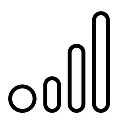 Line cellular network icon vector