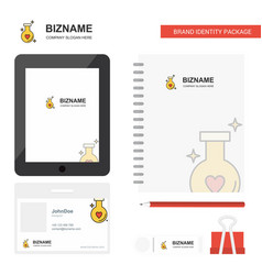 Love drink business logo tab app diary pvc vector