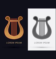 luxury lyre vector image