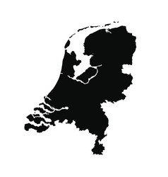 Map netherlands isolated vector