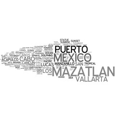 Mazatlan word cloud concept vector