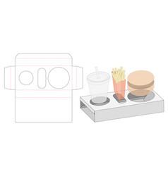 Meal packaging die cut template vector