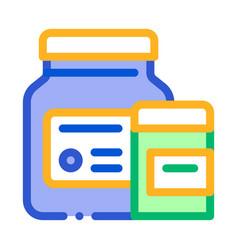 medicine healthcare bottles supplements icon vector image