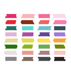 mini washi tape strips colorful collection vector image