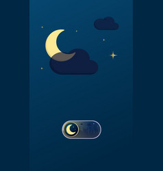 night cityscape on off toggle switch button vector image