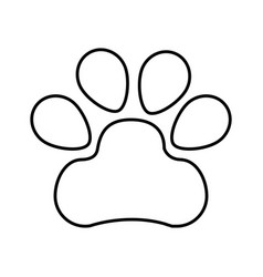 Paw footprint isolated icon vector