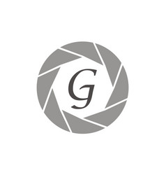 Photography service letter g vector