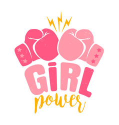poster girl power vector image
