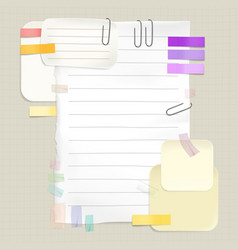 Reminders and sticky notes vector