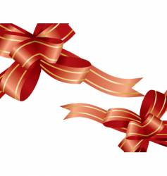 ribbon bow vector image