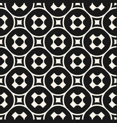 seamless pattern with crosses circles squares vector image