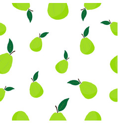 Seamless pattern with guava vector