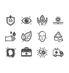 set healthcare icons such as medical drugs vector image