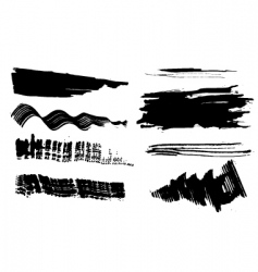 set of blots vector image